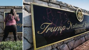 Defacing Trump National Golf Club