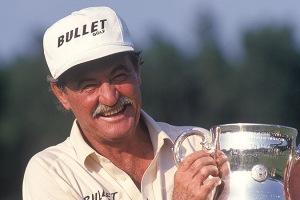 Simon Hobday as seen with the trophy after winning the 1994 U.S. Senior Open Championship at Pinehurst (Copyright USGA/Robert Walker)